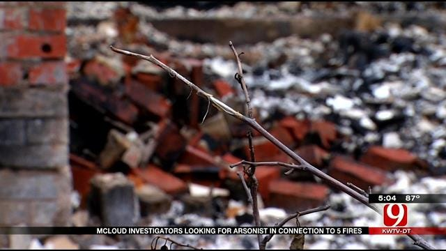 McLoud Investigators Look For Arsonist In Connection To Five Fires
