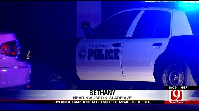 Police Initiate Overnight Manhunt After Suspect Assaults Bethany Officer