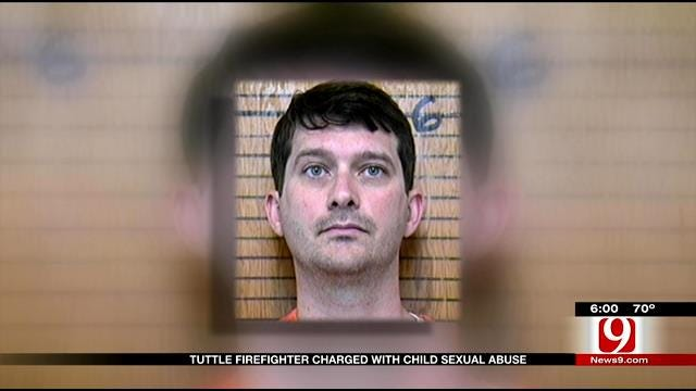 Tuttle Firefighter Charged With Child Sexual Abuse
