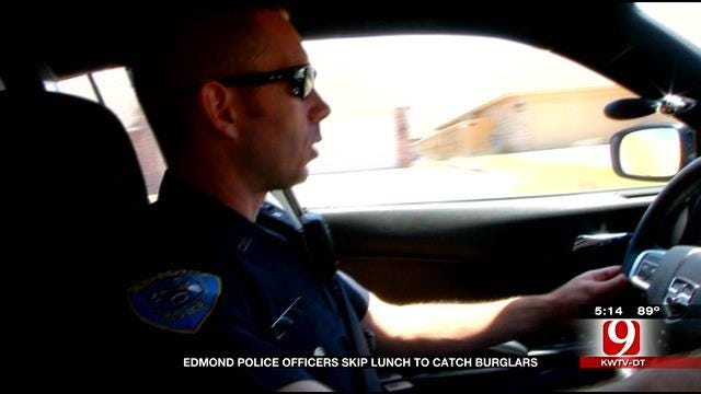 Edmond Police Officers Skip Lunch to Nab Burglars