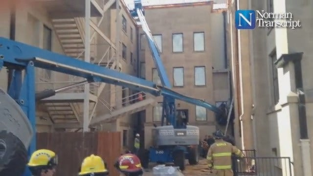 WEB EXTRA Norman Transcript Video Of Scene Of Construction Accident