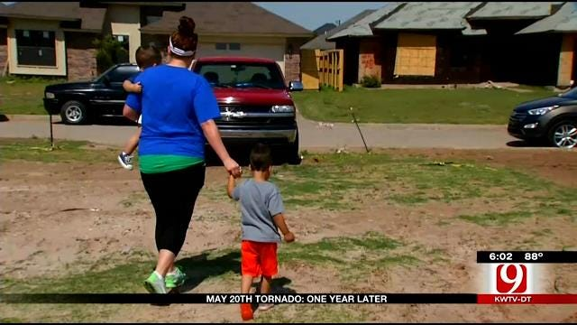 One Year Later: Moore Family Visits Old Home
