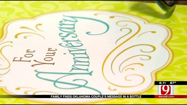 Family Finds Oklahoma Couple's Message In A Bottle