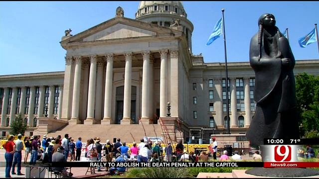Rally To Abolish The Death Penalty Held At OK Capitol