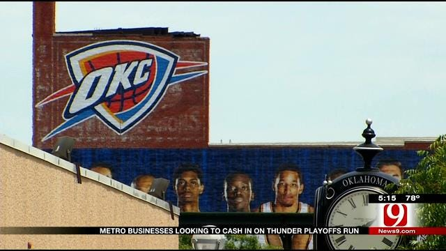 Metro Businesses Looking To Cash In On Thunder Playoffs Run