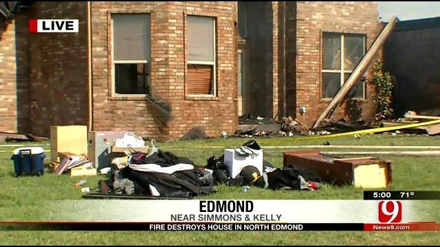 Four Fire Departments Battle Edmond House Fire