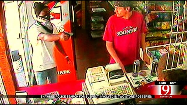 Shawnee Police Search For Suspect Involved In 2 Store Robberies