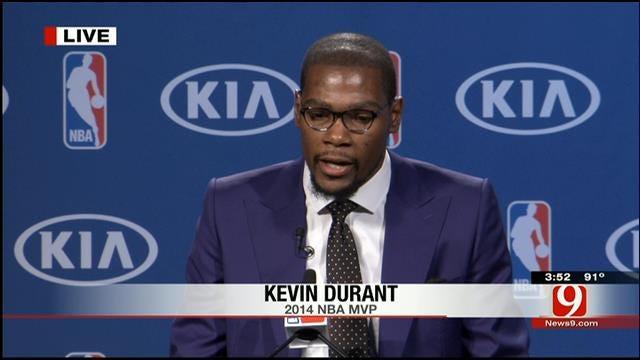 Thunder's Durant Gives Emotional MVP Speech