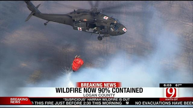 Firefighters Make 'Significant Progress' Battling Logan County Wildfire
