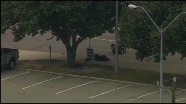 WEB EXTRA: Bob Mills SkyNews 9 HD Flies Over Suspicious Package Investigation In OKC