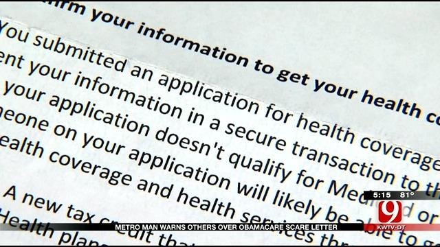 Norman Man Warns Others Over Obamacare Scare Letter