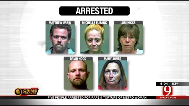 Five Arrested In OKC For Raping, Torturing Woman