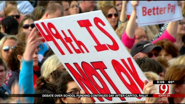 Debate Over School Funding Continues One Day After Capitol Rally
