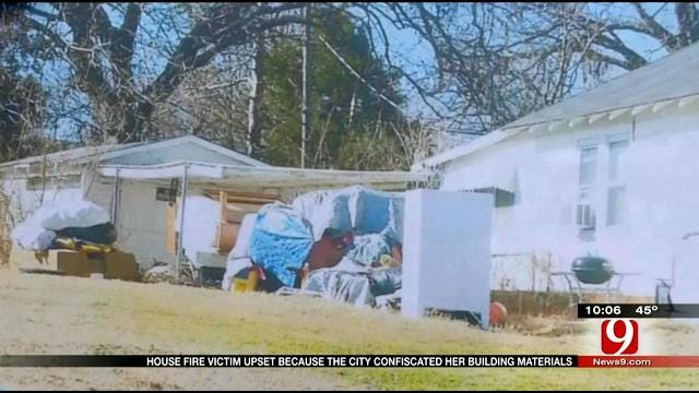 NW OKC Woman Upset After City Hauls Away Construction Materials