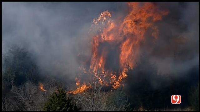 Crews Battle Several Wildfires In SE OKC