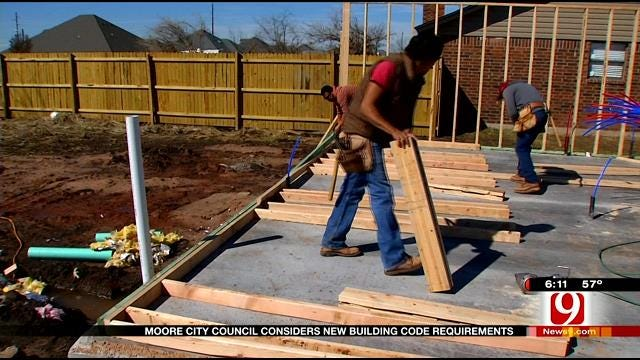 Moore City Council Votes On New Building Codes