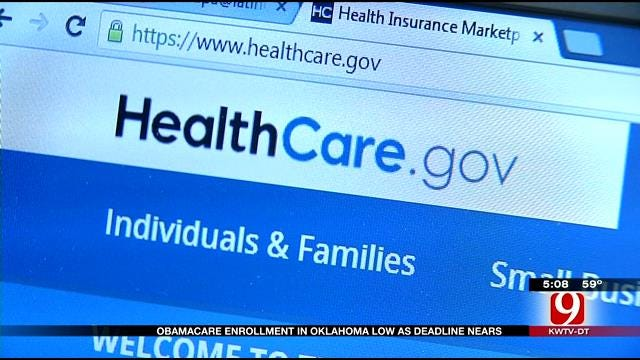 Obamacare Enrollment In Oklahoma Low As Deadline Nears