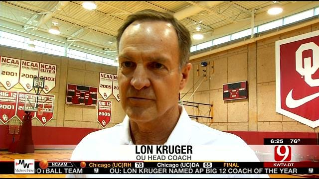 OU's Kruger Named Big 12 COY
