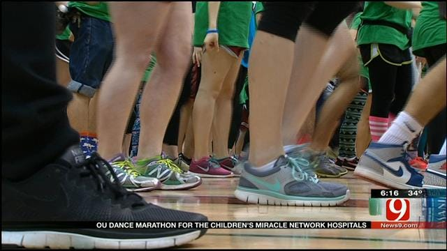 OU Students Dance 12 Hours For Oklahoma's Sick Children