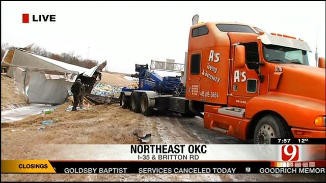 Lisa Monahan Live From I-35 Semi Accident