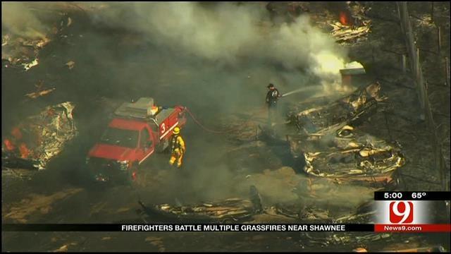 Fire Crews Respond To Multiple Wildfires Near Shawnee