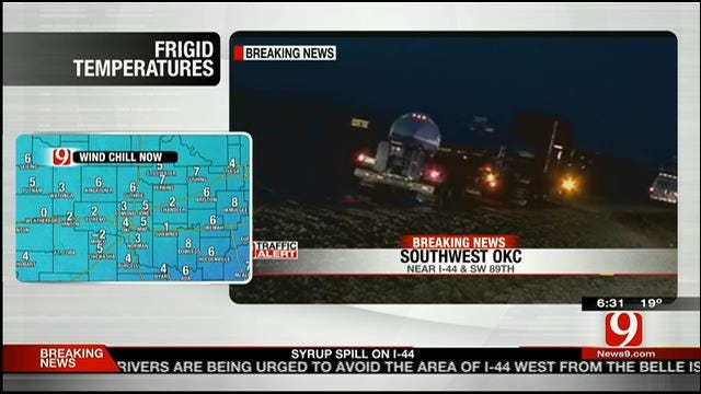 Crews On Scene Of Syrup Spill In OKC