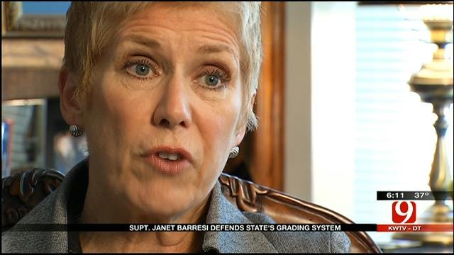 Superintendent Janet Barresi Defends A-F Grading System