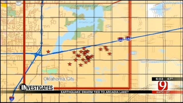 Latest Swarm Of OK Earthquakes Could Be Tied To Lake Arcadia