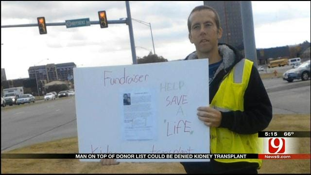 OKC Man Raises Funds To Stay On Kidney Transplant List