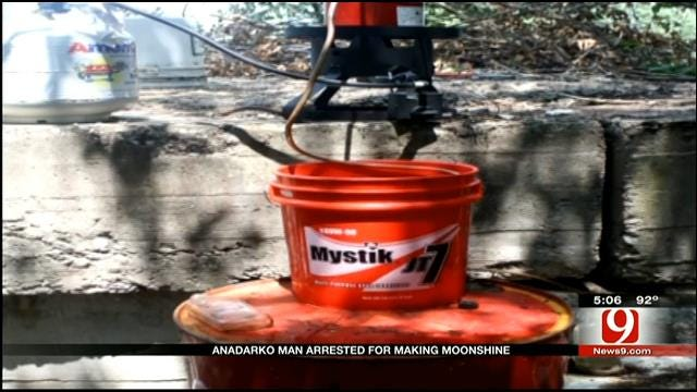 Chickasha Police Discover 'Moonshine' Still In Wooded Area