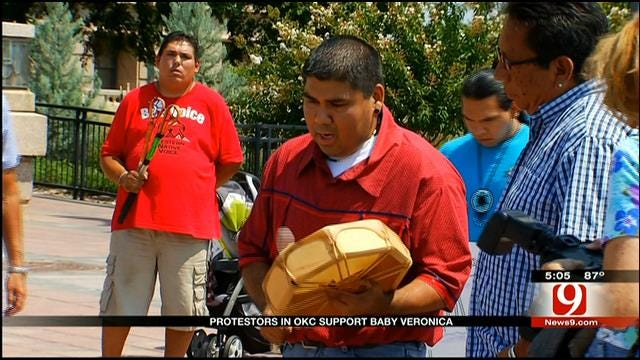 'Baby Veronica' Demonstrators Rally At State Capitol