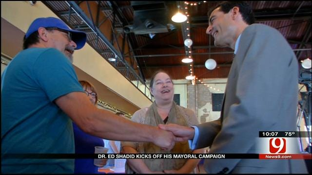 OKC Mayor Hopeful Ed Shadid Hosts Rally At Farmer's Market
