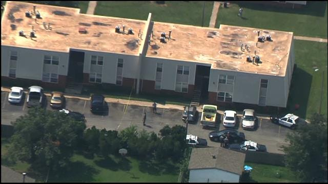 WEB EXTRA: SkyNews 9 Flies Of Fatal Shooting Scene In SW OKC
