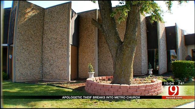 Contrite Burglar Breaks Into Del City Church, Daycare