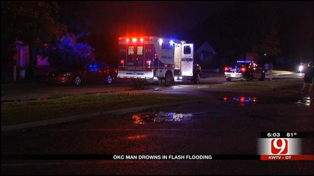 OKC Grandfather Dies In Early-Morning Flash Flooding
