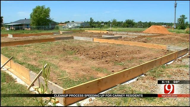 Carney Residents Begin Rebuilding 2 Months After Tornado