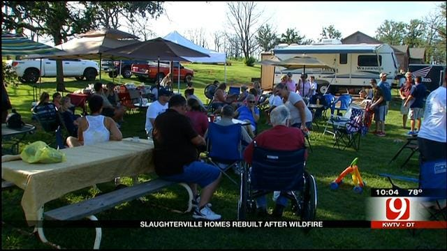 Slaughterville Family Gathers One Year After Wildfires