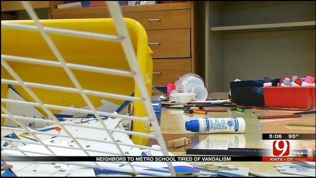 Neighbors Frustrated After Recent Vandalism To OKC Homes, School