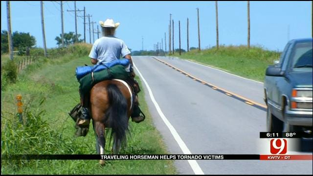 After Helping With Tornado Relief, Cowboy Heading West Leaves Moore