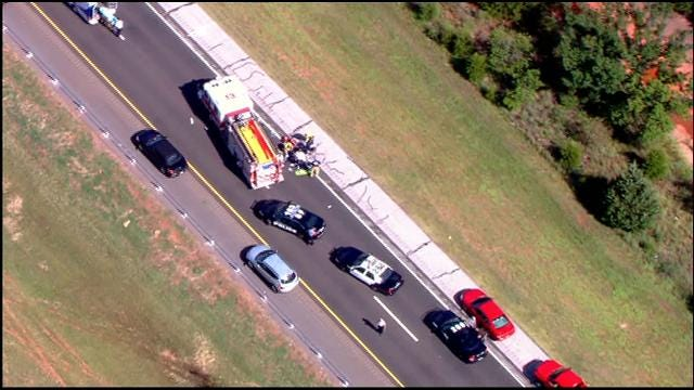 WEB EXTRA: SkyNews 9 Flies Over Accident Involving Semi And Pedestrian