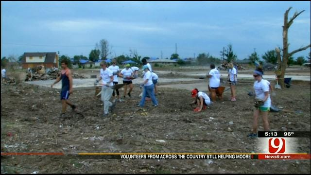 Out Of Town Volunteers Still Pouring In To Help Tornado Cleanup Efforts