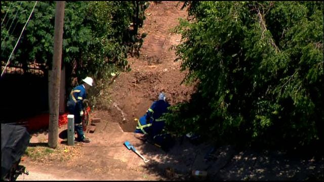 SkyNews 9 Flies Over Gas Leak In SE OKC