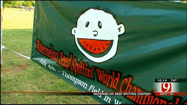 Pauls Valley Hosts 55th Annual Watermelon Seed Spitting Contest
