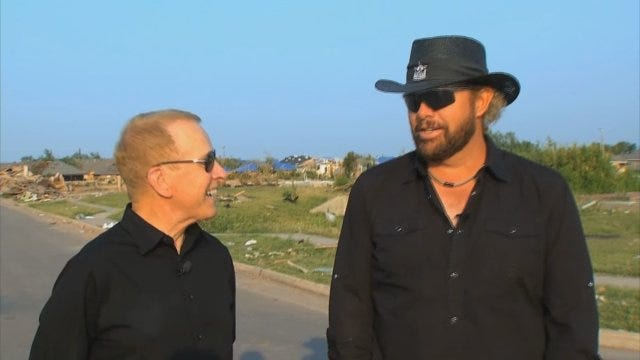 WEB EXTRA: Toby Keith Returns To Moore To Talk Exclusively With Gary England