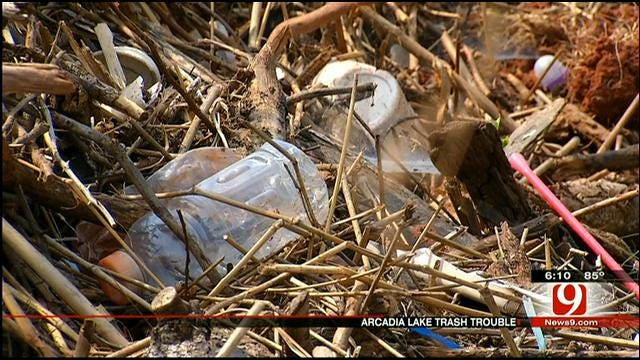 Arcadia Lake Still Mucked Up With Flood Debris