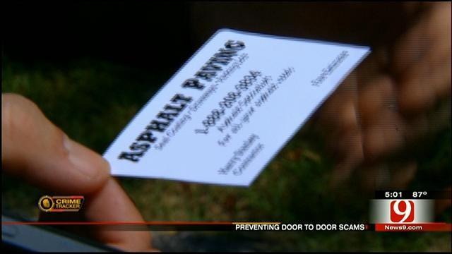 Authorities Warn Of Solicitors Offering Service Door-To-Door In Edmond