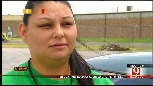 Woman Says Brick Attack Suspect Attacked Her