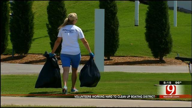 Volunteers Clean Up Oklahoma River Ahead of Weekend Festival