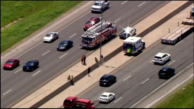 WEB EXTRA: SkyNews 9 Flies Over Injury Accident On I-40 At Meridian