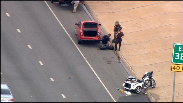 WEB EXTRA: Multiple Vehicles Collide Near Shields Exit On EB I-240